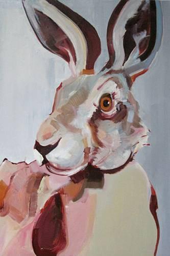 Warum malt Tina Oelker nur Hasen?