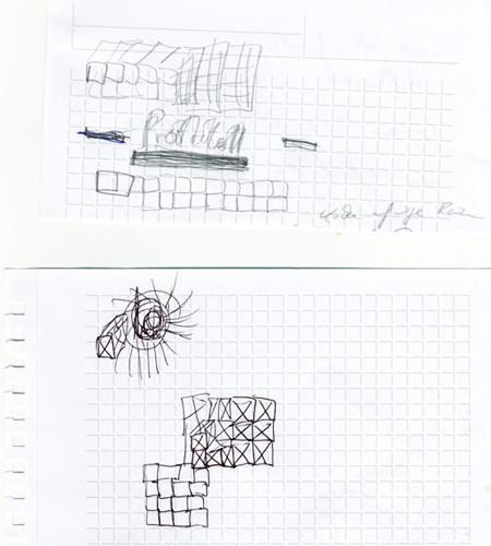 Psychologie: Das sagt Sabine Grawe: Wenn man versucht, diese Zeichnungen nachzumalen, merkt man sofort, dass sie sehr schnell entstanden sind. Der Stift huscht dynamisch über das Blatt. Statt sich mit neuen Mustern aufzuhalten, wird das nachgezeichnet, was schon auf dem Papier da ist. Ich denke, die Person ist ein Schnelldenker und Optimierer. Sie konzentriert sich auf das Wesentliche, hat eine interessante Dynamik und ist eher kopforientiert. Vermutlich neigt sie zu Ungeduld - zumindest in der Situation, als die Kritzeleien entstanden sind.    Das sagt die/der Kritzler/in: Stimmt zu 90 Prozent.