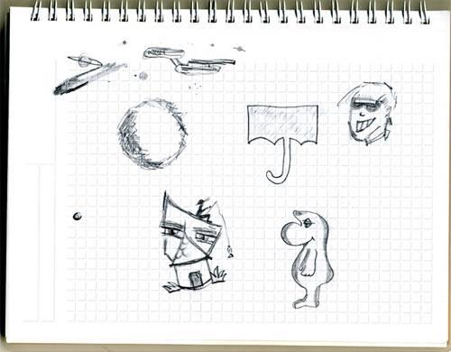 """Psychologie: Das sagt Sabine Grawe: In diesen Zeichnungen steckt viel drin. Durch die verschiedenen Elemente bietet es sich an, das Bild in Quadranten zu teilen, die dem Bild eine grobe Struktur geben und Tendenzen vermuten lassen. Die linke Seite zeigt eher Vergangenes, die Mitte Aktuelles und die rechte Seite Zukünftiges. Oben rechts begegnen uns oft Wünsche, die einen Hinweis geben können, wie wir gern wären. In diesem Fall sehen wir dort ein überzeichnet cool und gut gelauntes Porträt mit Sonnenbrille. Vielleicht möchte die/der Zeichner/in Unsicherheiten hinter Koketterie verstecken? Der aufgespannte Schirm könnte das Schutzbedürfnis nochmal unterstreichen.    Unten rechts zeigt sich oft das, was die Person trägt, was ihr Stabilität gibt. Hier sehen wir ein freundliches Wesen, weich, ein wenig konturlos. Es wirkt mütterlich, doch lässt sich das Geschlecht nicht wirklich erkennen. Da diese Attribute nicht zu den anderen Elementen im Bild passen, vermute ich, dass es sich bei dieser Figur nicht um den/die Zeichnenden, sondern um den/die Partnerin handelt. Da die Darstellung geschlechtslos ist, betrifft es vielleicht die Geschlechtsidentität, auch könnte ich mir eine gleichgeschlechtliche Beziehung vorstellen.    Im linken oberen Quadranten sehen wir Planeten, Raumschiffe. Alles bewegt sich, kreist mit- und umeinander im Universum, alles steht in Bezug zueinander. Beziehungen dürften hier dann auch das Thema sein. Vielleicht eine Darstellung der Ursprungsfamilie?    Und zum Schluss das Haus links unten im Bild: In diesem Quadrat finden sich oft Elemente, von denen wir uns bedroht fühlen. Dieses Haus ist ein wenig """"aus den Fugen geraten"""". Das Haus könnte ein Symbol für den Zeichner selbst sein. Der Ausdruck wirkt auf mich wütend, hilflos, der """"Mund""""  verschlossen. Der Blick ist (nach links) in die Vergangenheit gerichtet. Vielleicht ein Erlebnis aus früherer Zeit, über das nicht gesprochen wird?    Zusammengefasst haben wir es hier mit einer nach außen selbstbewusst"""