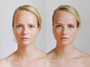 Fotoprojekt: Frauen mit und ohne Schminke