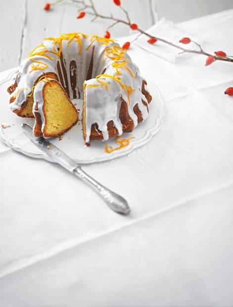 Kuchen backen: Orangen-Gugelhupf ohne Ei