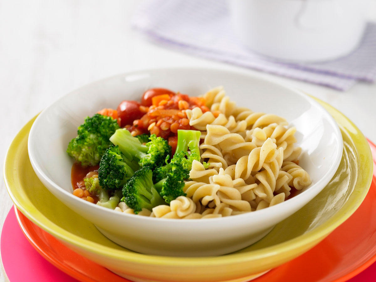 Vegetarische Pasta zum Abnehmen