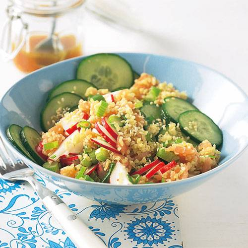 Ingwer-Lachs-Tabouleh