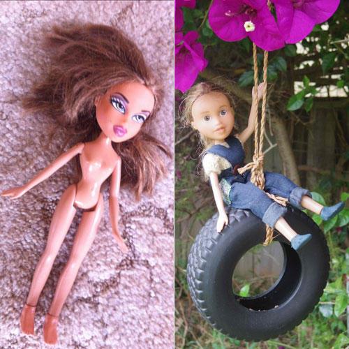 Artista remove maquiagem de bonecas para deixá-las menos sexualizadas