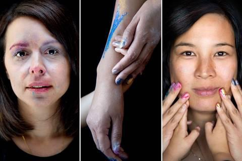 Wenn Töchter ihre Mütter schminken