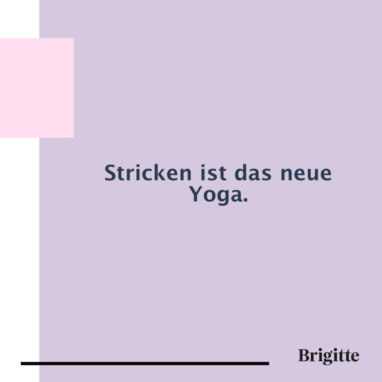 Stricken ist das neue Yoga