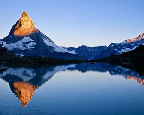Alpenglühen am Matterhorn
