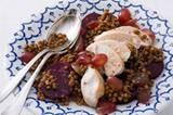 Hähnchen-Radicchio-Salat mit Linsen-Vinaigrette