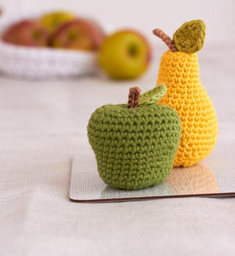 Äpfel und Birnen häkeln