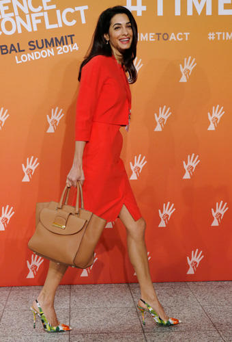 Amal Clooney: Lady in Red