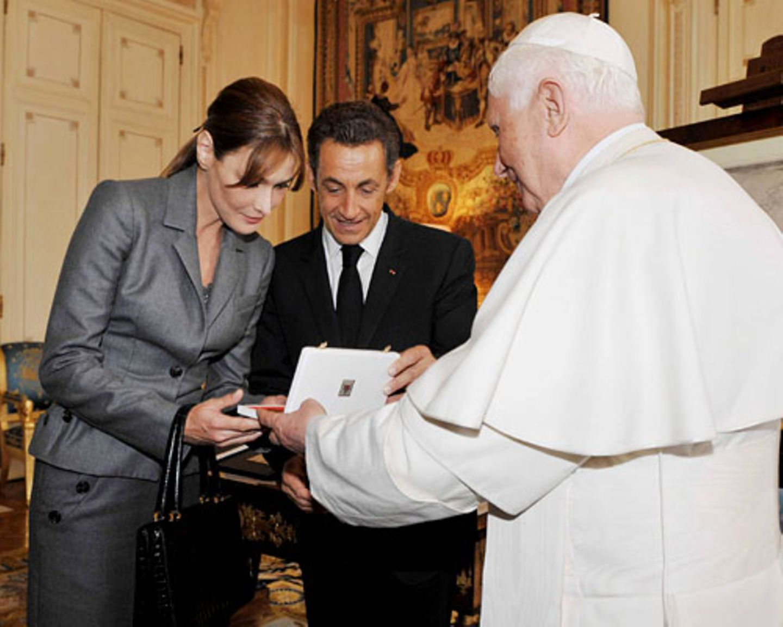 Bruni Sarkozy Papst