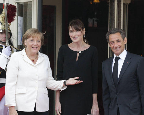 Bruni Sarkozy Merkel