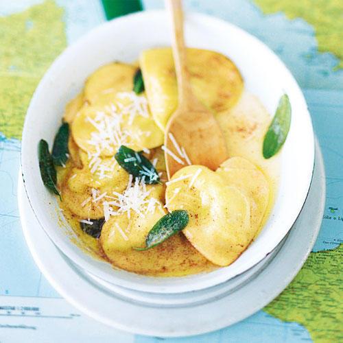 Ravioli mit Spinat und Käse