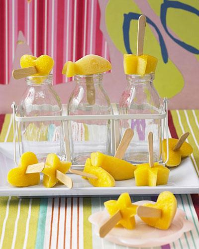 Mango-Eis am Stiel