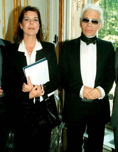 Caroline von Monaco und Karl Lagerfeld