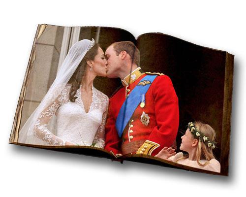 Hochzeitskuss Kate & William märchenhaft