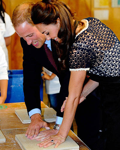 Kate & William Handabdrücke