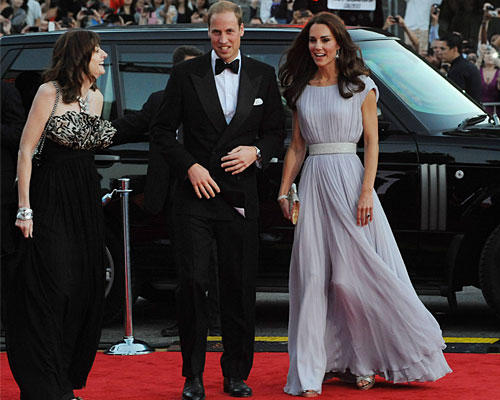 Kate & William roter Teppich