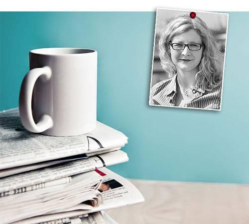 Inga Leister: alte Zeitungen
