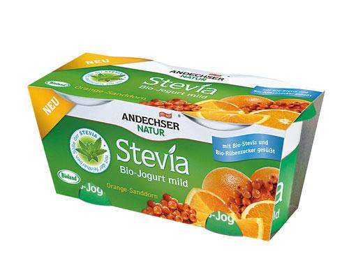 Bio-Joghurt, gesüßt mit Stevia-Tee