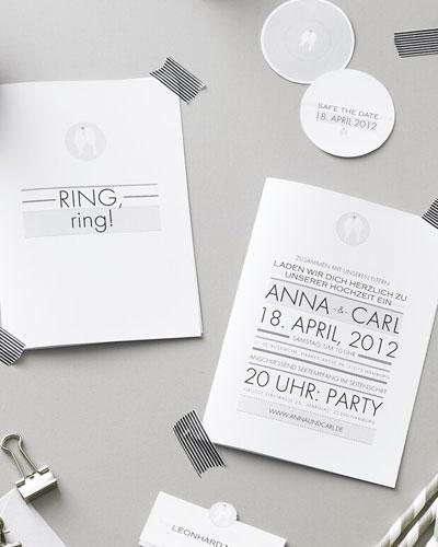 schlichte Hochzeitseinladung