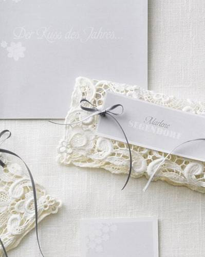 Heiraten hochzeitseinladungen zum selbermachen for Hochzeitseinladungen vintage mit spitze