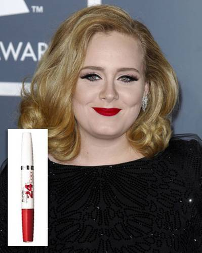 Make-up für die Lippen: Adele