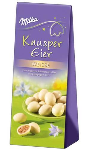 Milka Knusper-Eier Weiße: 110 Gramm für 1,99 Euro