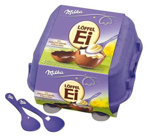 Milka Löffel-Ei Milchcreme: 136 Gramm für 2,99 Euro