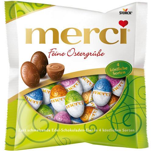 Merci Ostereier, vierfach sortiert: 120 Gramm für 1,99 Euro