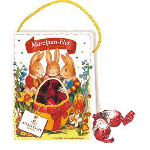 Niederegger Marzipan-Eier in Zartbitter-Schokolade. 85 Gramm für 3,80 Euro