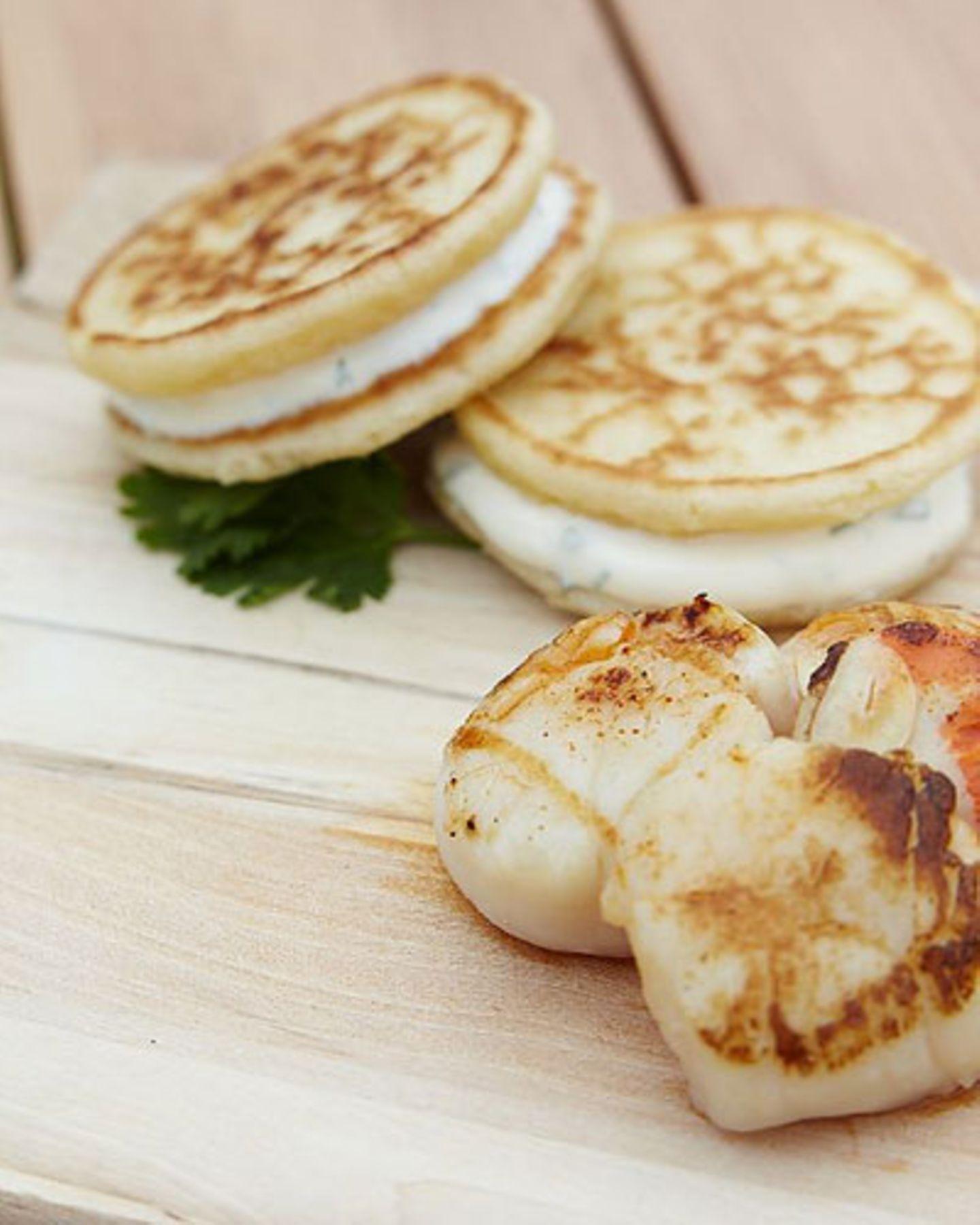 Camping Rezepte: Blini-Burger