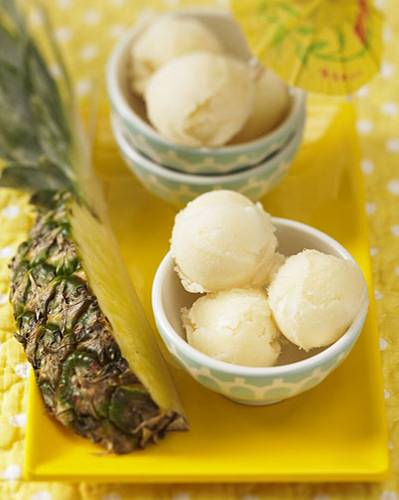 Eis selber machen: Ananas-Sorbet