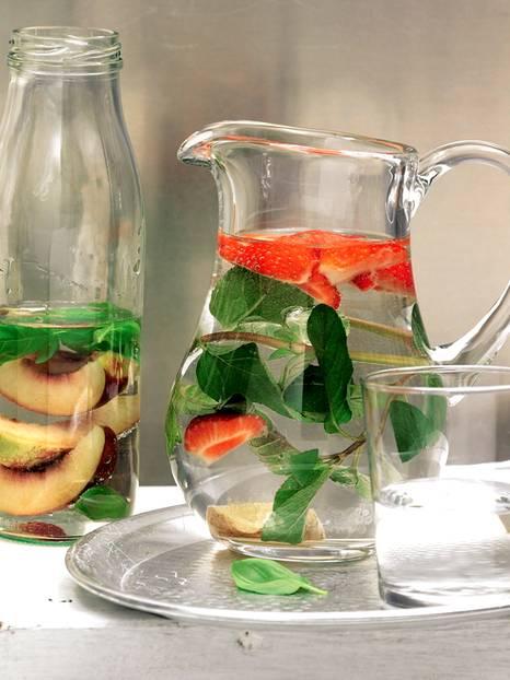 Erdbeer-Ingwer-Wasser