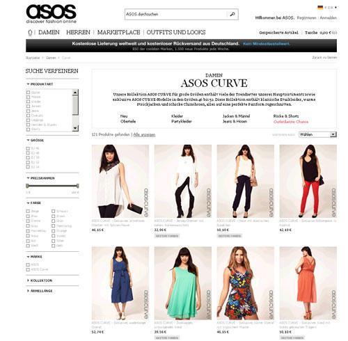 Mode für Kurvige: Asos Curve