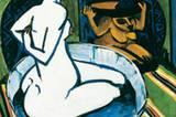 Ernst Ludwig Kirchner: Weiblicher Akt im Tub (1911)