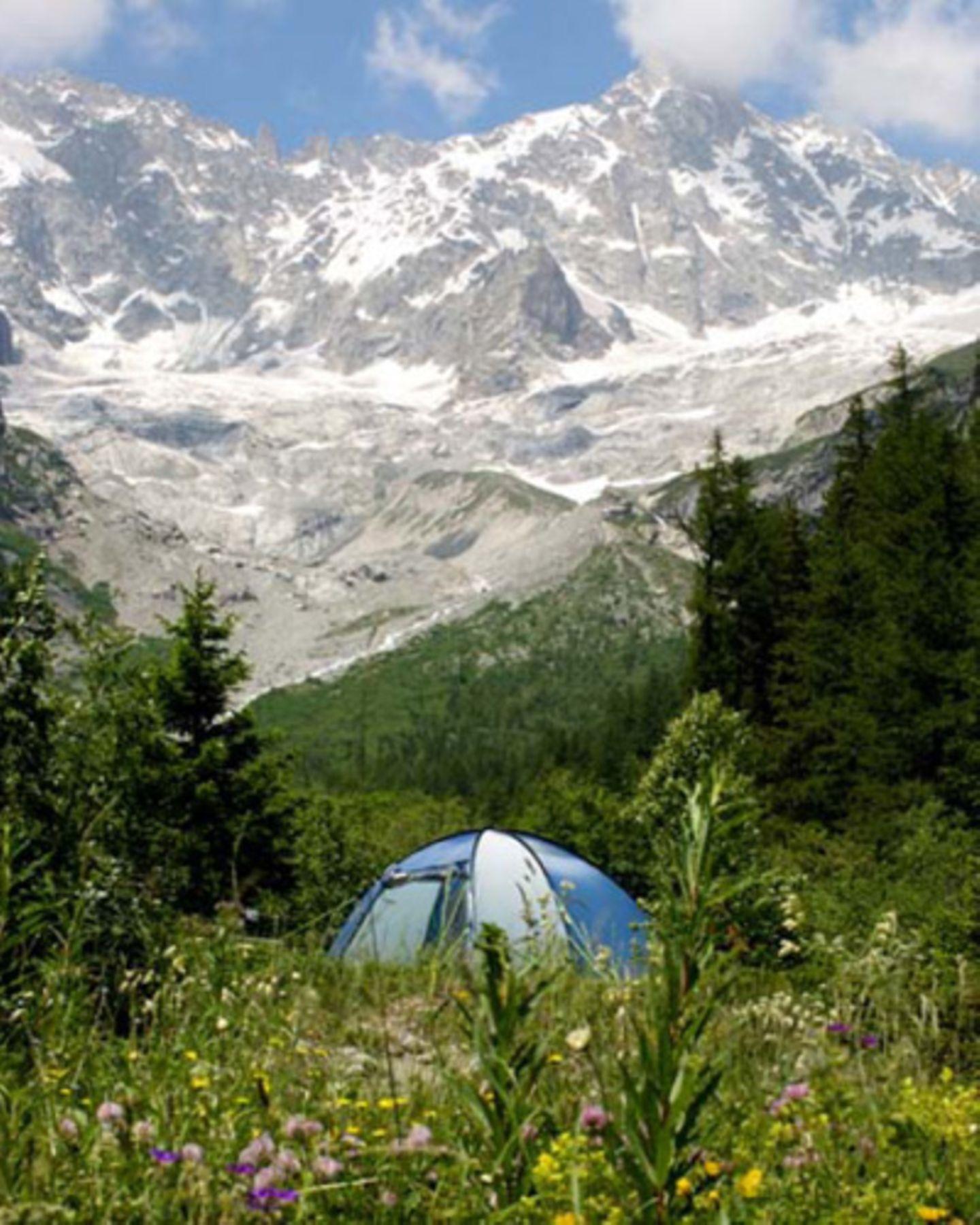 Schweiz: Gletscherblick im Wallis