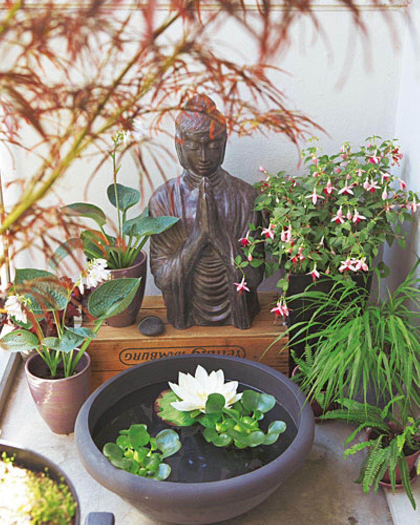 Buddha Tisch Balkon