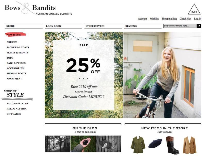 Die besten Vintage-Onlineshops: Bows and Bandits