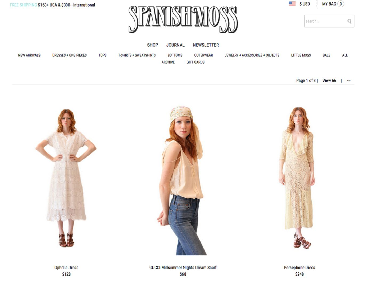 Die besten Vintage-Onlineshops: Spanish Moss Vintage