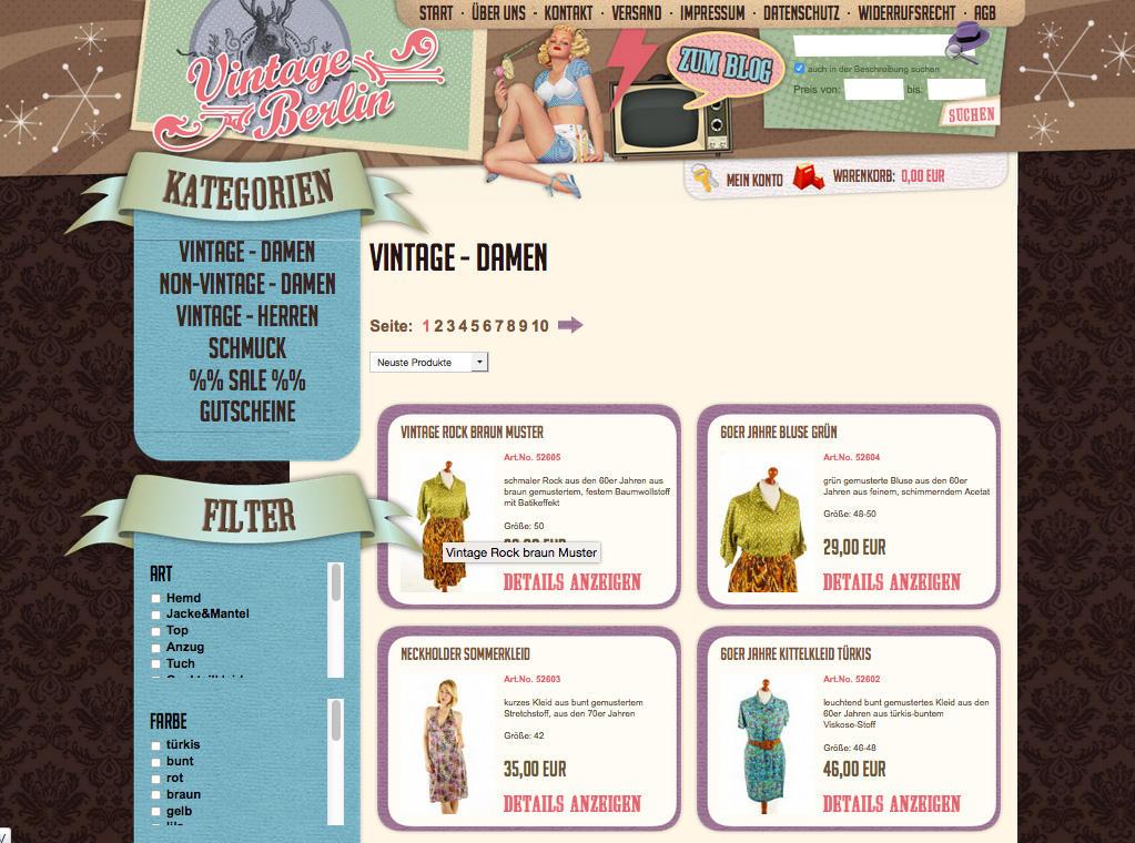 Die besten Vintage-Onlineshops: Vintage Berlin