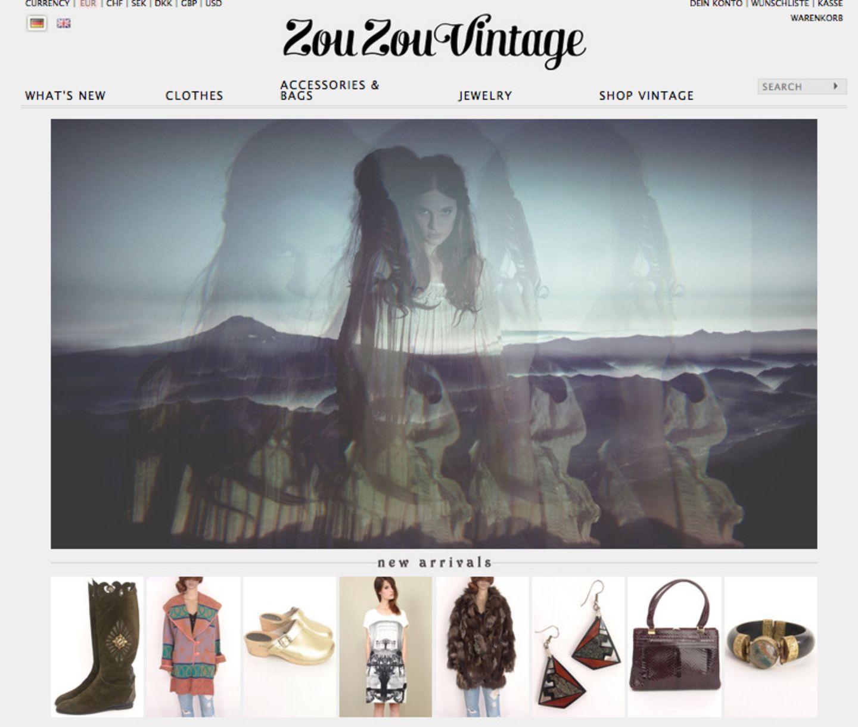 Die besten Vintage-Onlineshops: Zou Zou Vintage