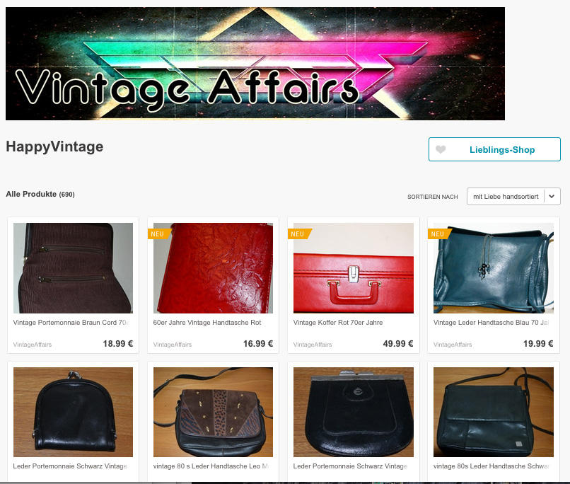 Die besten Vintage-Onlineshops: Vintage Affairs