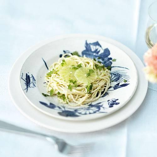 Limetten-Kerbel-Spaghettini