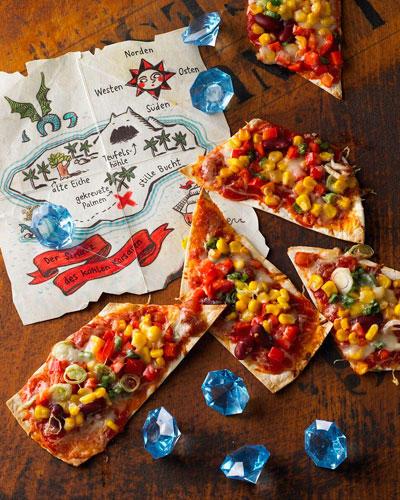 "Kinderparty: Pizza ""Schatzkarte"""
