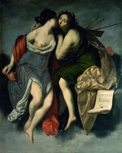Francesco Furini: Die Malerei und die Dichtkunst, 1629