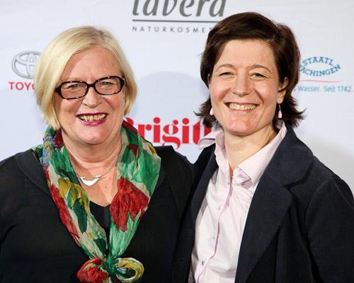 Ariane Grundmann (rechts) (BDF) und Mutter (links)