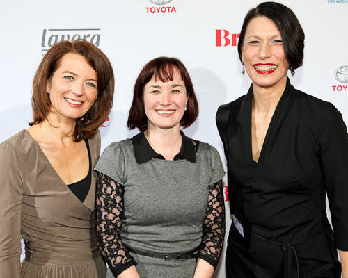 Iris Müller, Evelyn Stegmann (Initiative Medi), Andrea Freese