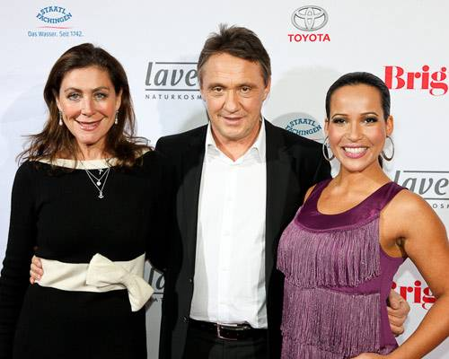 Alexandra von Rehlingen (Schoeller & von Rehlingen PR), Andreas Lebert, Nandini Mitra (Moderatorin)