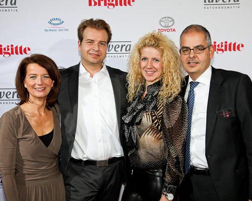 Iris Müller (Sales Manager VB Nord G + J), Klara Ahlers (Laverana) und Mann, Dr. Felix Friedlaender